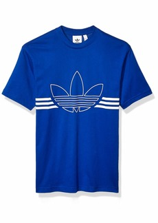 adidas Originals Men's Outline Trefoil Tee collegiate Royal/White