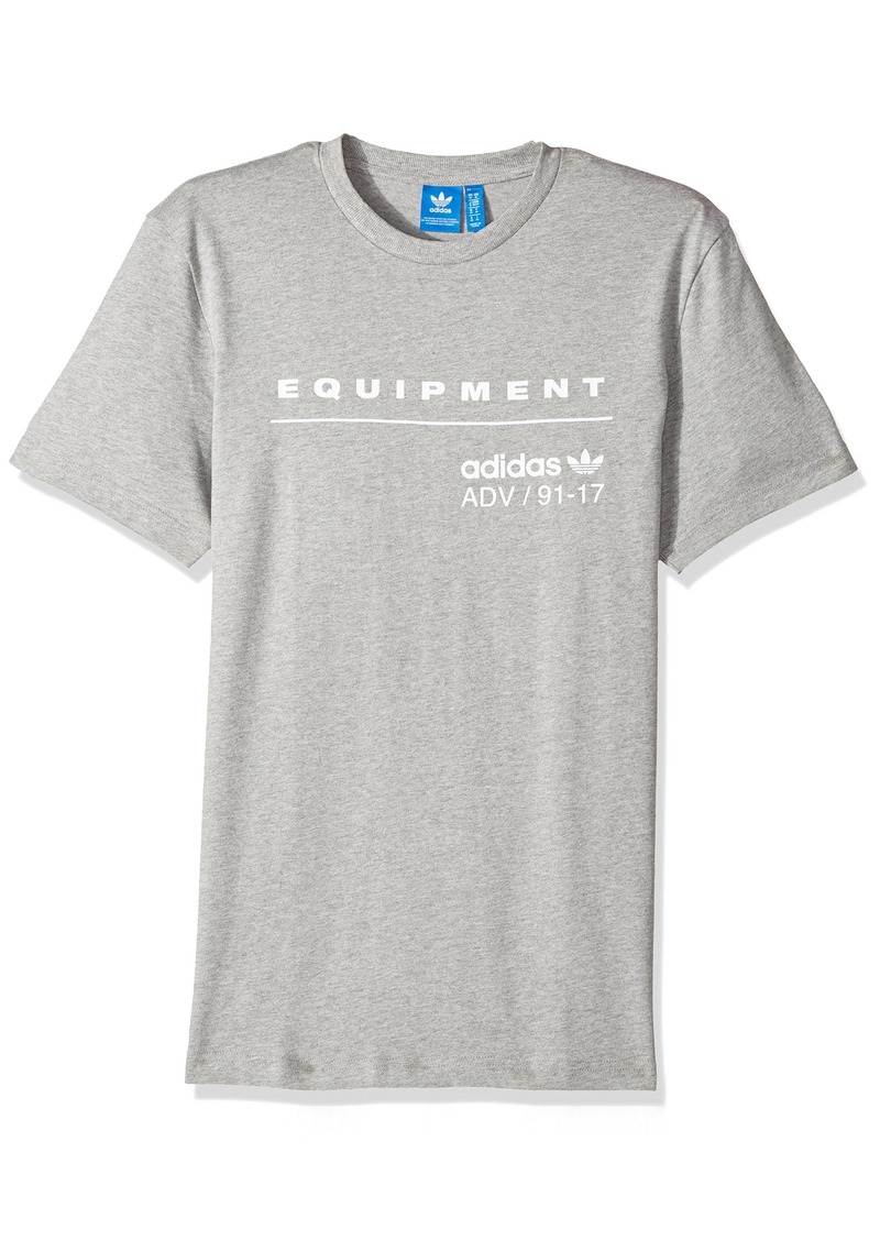 adidas Originals Men's PDX Classic Tee  Grey Heather/White M