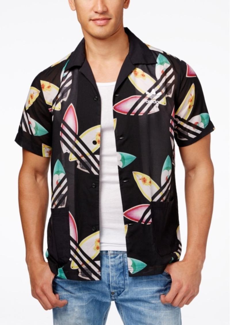 adidas Originals Men's Pharrell Williams Printed Surf Shirt