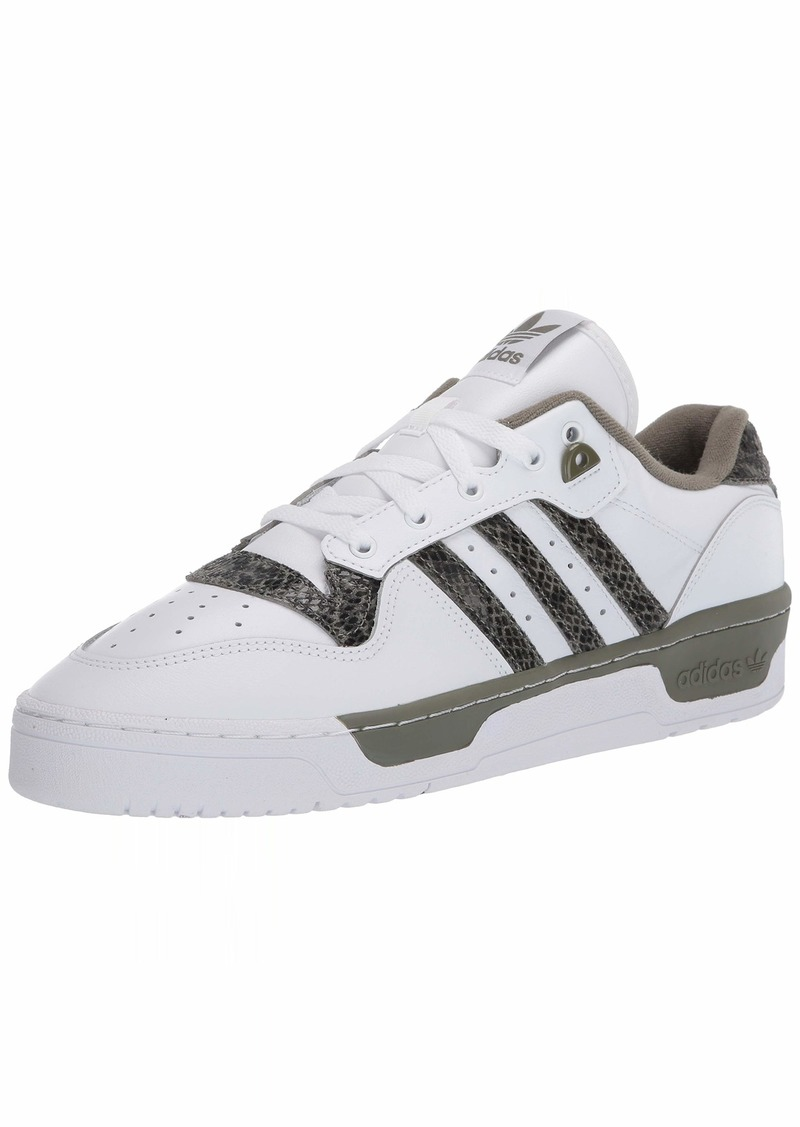 adidas Originals Men's Rivalry Low Sneaker FTWR White/Legacy Green/FTWR White  M US