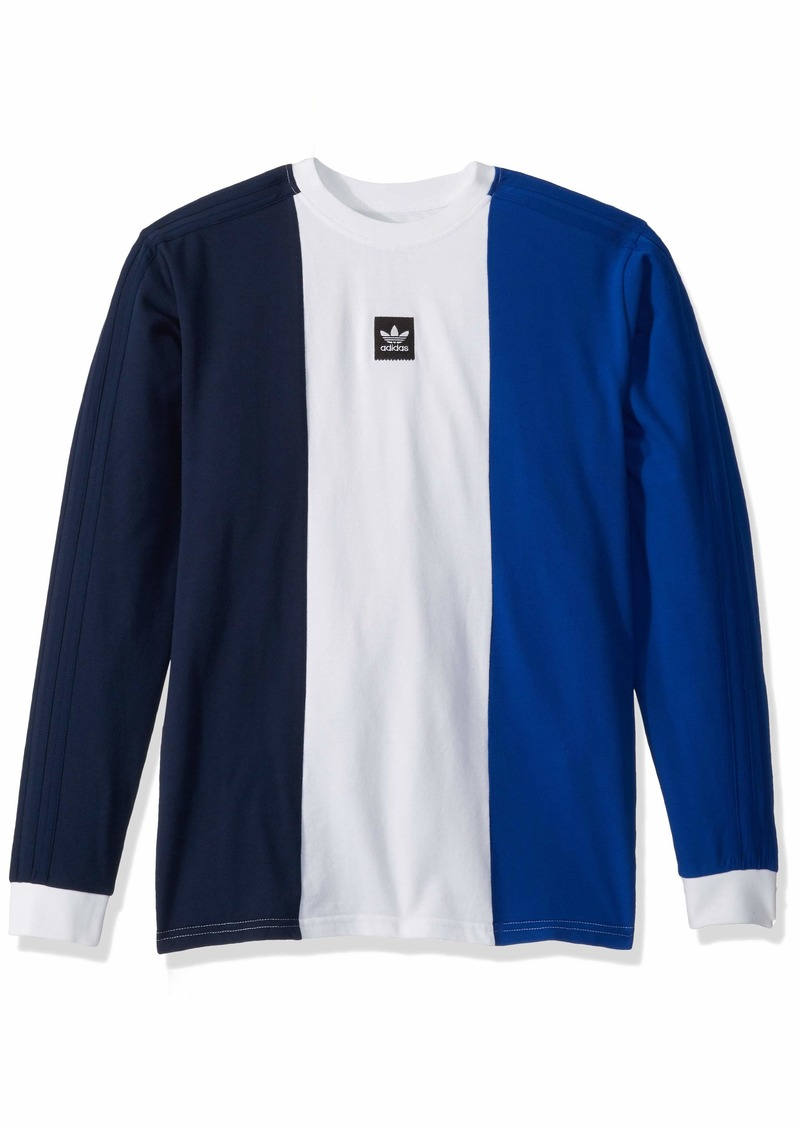 adidas Originals Men's Skate Tri Part Tee Navy/White/Collegiate Royal