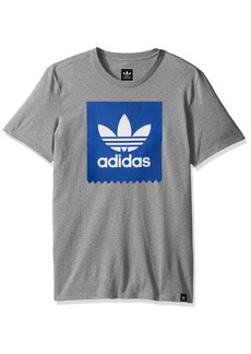 adidas Originals Men's Skateboarding Blackbird Tee core Heather/Collegiate Royal 2XL