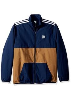 adidas Originals Men's Skateboarding Class Action Jacket Collegiate Navy/raw Desert/White S