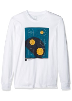adidas Originals Men's Skateboarding Courts Long Sleeve Tee  M