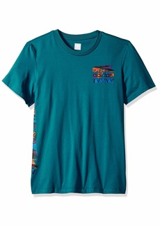 adidas Originals Men's Skateboarding FNEE Tee Real Teal Orange/Collegiate Royal M