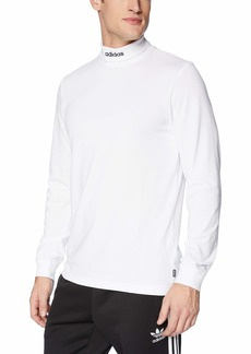 adidas Originals Men's Skateboarding Hi Collar Long Sleeve Tee  XS