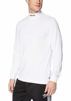 adidas Originals Men's Skateboarding Hi Collar Long Sleeve Tee  XS