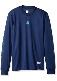 adidas Originals Men's Skateboarding Long Sleeve Mesh Jersey  L