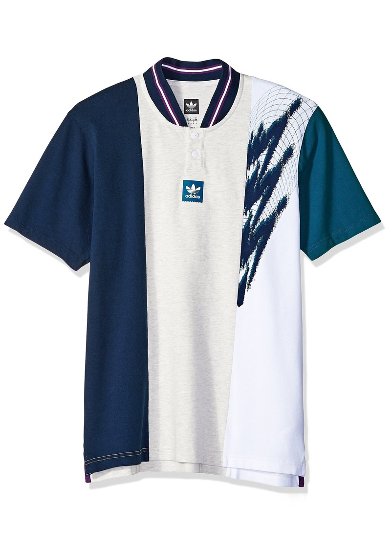 adidas Originals Men's Skateboarding Short Sleeve Tennis Jersey  XL