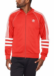 adidas Originals Men's Striped Sleeve Track Jacket hi/res red/White 2XL