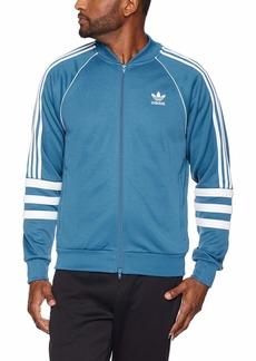 adidas Originals Men's Striped Sleeve Track Jacket Blanch blue/white XL