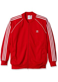 adidas Originals Men's Superstar Tracktop Collegiate red L