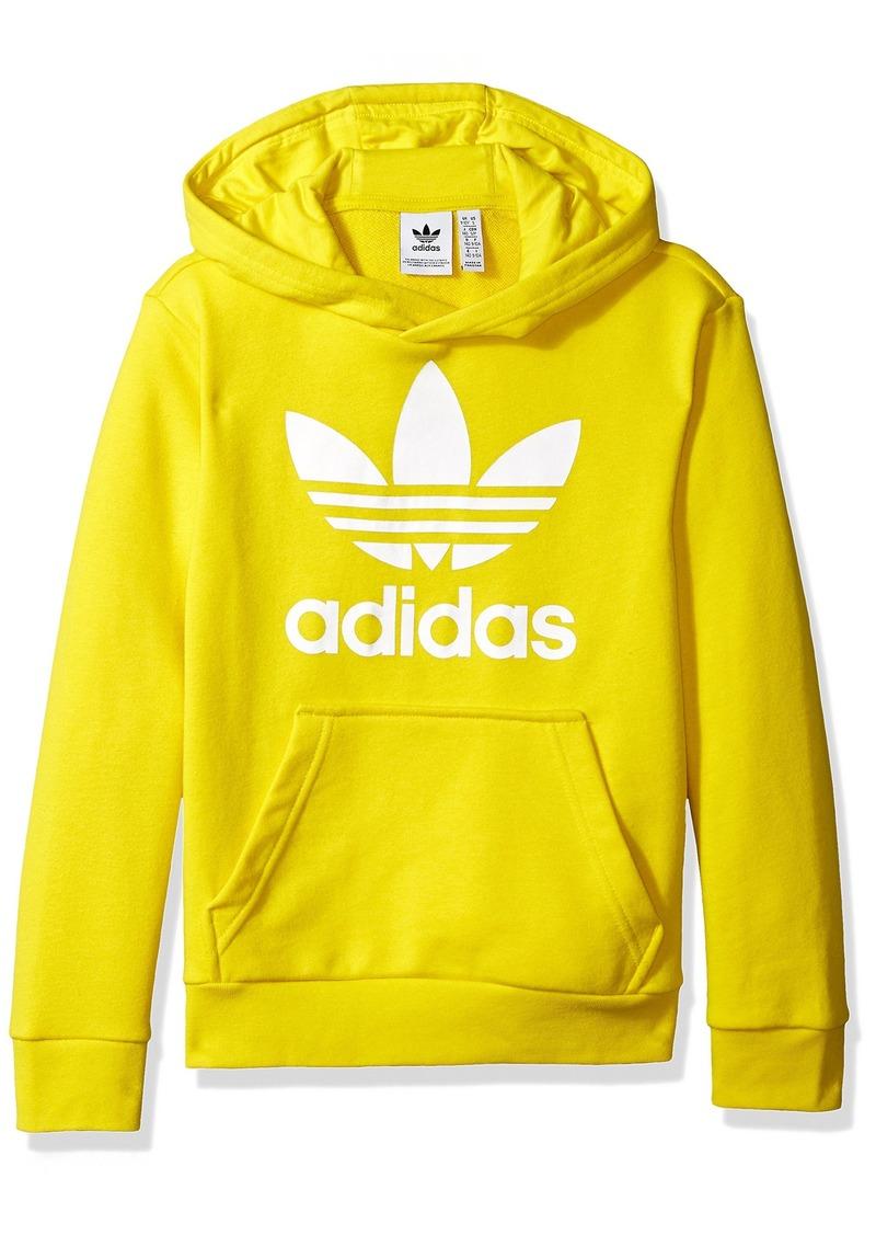 adidas Originals Mens Trefoil Hoodie yellow/white XS