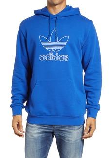 adidas Originals Men's Trefoil Outline Hooded Sweatshirt
