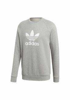 adidas Originals Men's Trefoil Warm-Up Crew Sweatshirt medium grey heather