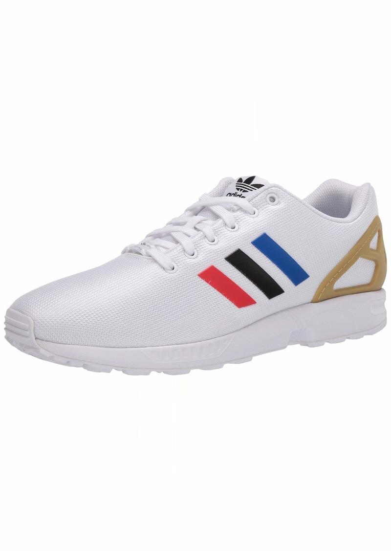 adidas Originals Men's ZX Flux Sneaker FTWR White/core Black/Team Royal Blue  M US