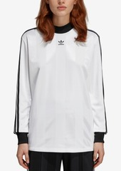 adidas Originals Mock-Neck Long-Sleeve T-Shirt