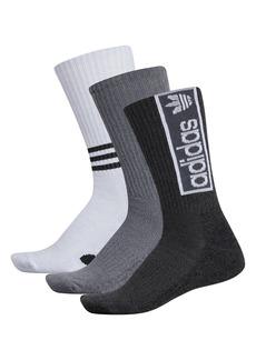 adidas Originals Ori Logo Graphic 3-Pack Crew Socks