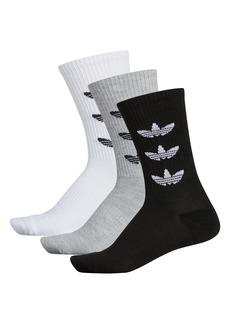 adidas Originals Ori Trefoil Repeat 3-Pack Quarter Socks