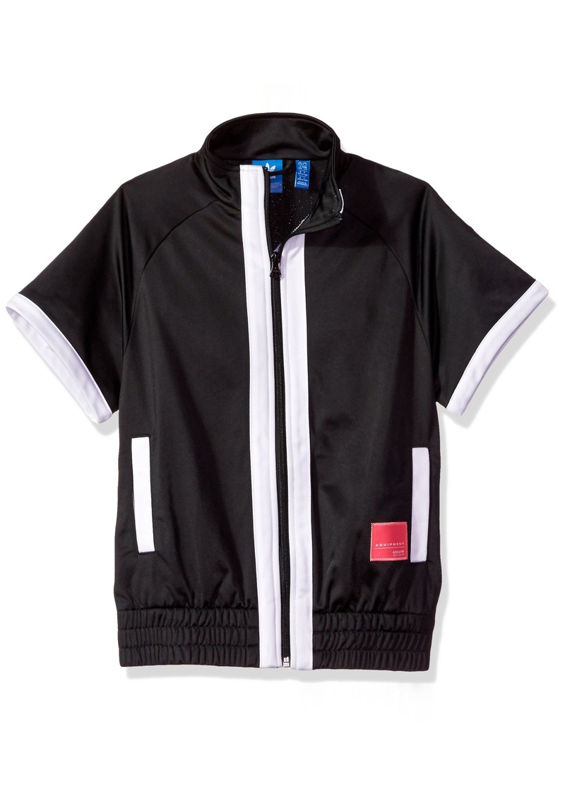 adidas Originals Outerwear Big Boys' Kids Eqt Vest Black/White