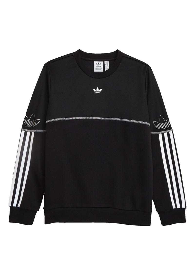 adidas Originals Outline Crewneck Sweatshirt (Big Boys)