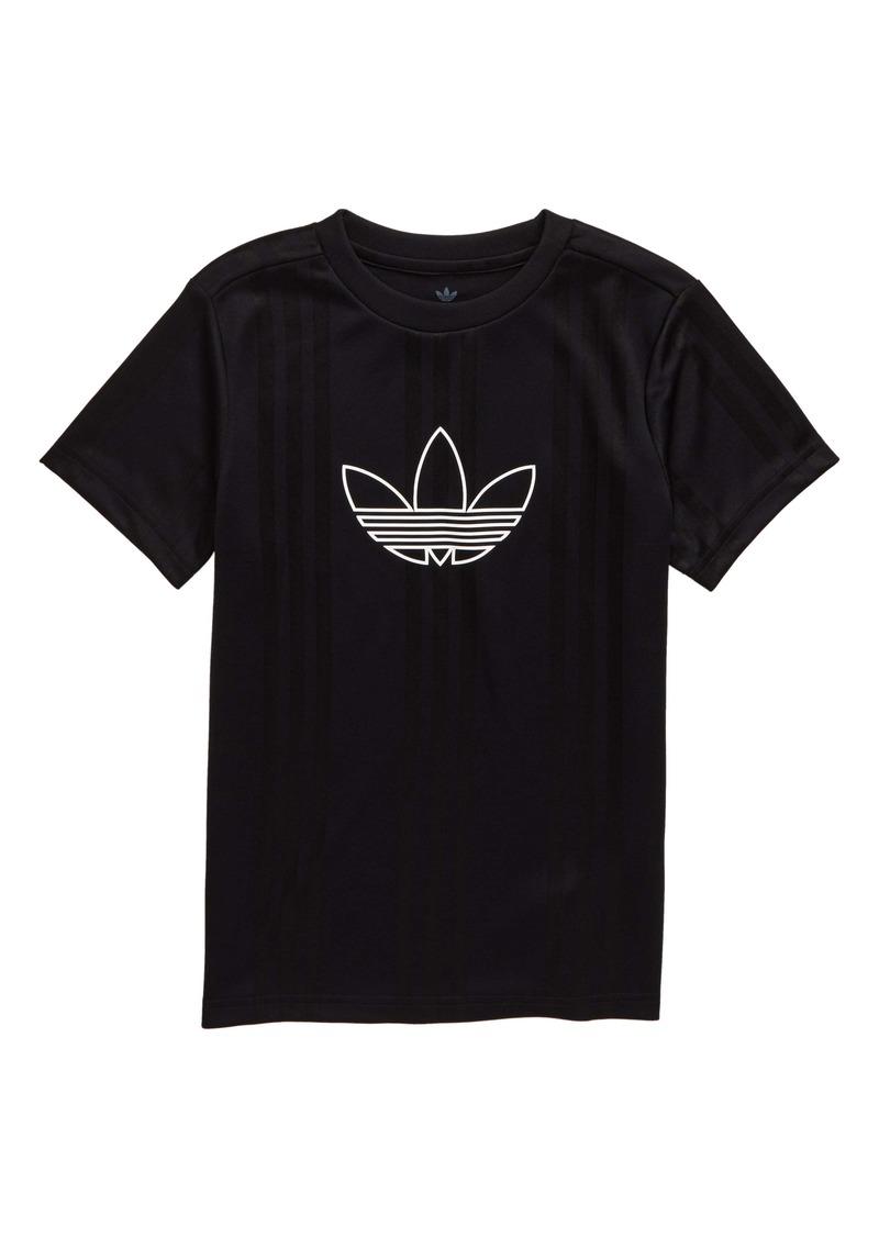adidas Originals Outline Logo Jersey Top (Big Boys)