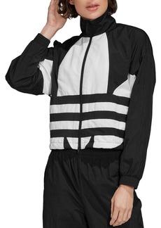 adidas Originals Oversized-Logo Cropped Track Jacket