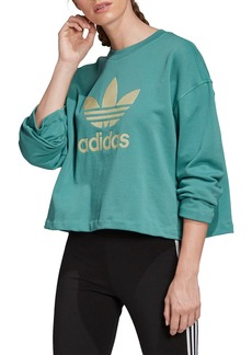 adidas Originals Premium Embroidered Trefoil Boxy Sweatshirt