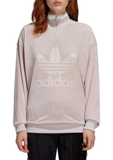 adidas Originals Quarter Zip Velour Pullover