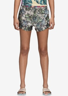 adidas Originals Satin Printed High-Waist Shorts