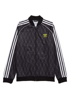 adidas Originals Superstar Trefoil Print Track Jacket (Big Boy)