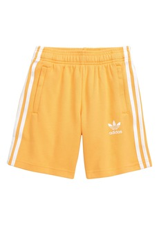 adidas Originals Three Stripe Athletic Shorts (Big Boys)