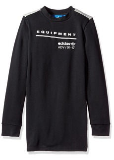 adidas Originals Tops Big Boys' Kids EQT Long Sleeve Tee Black/ Grey Heather