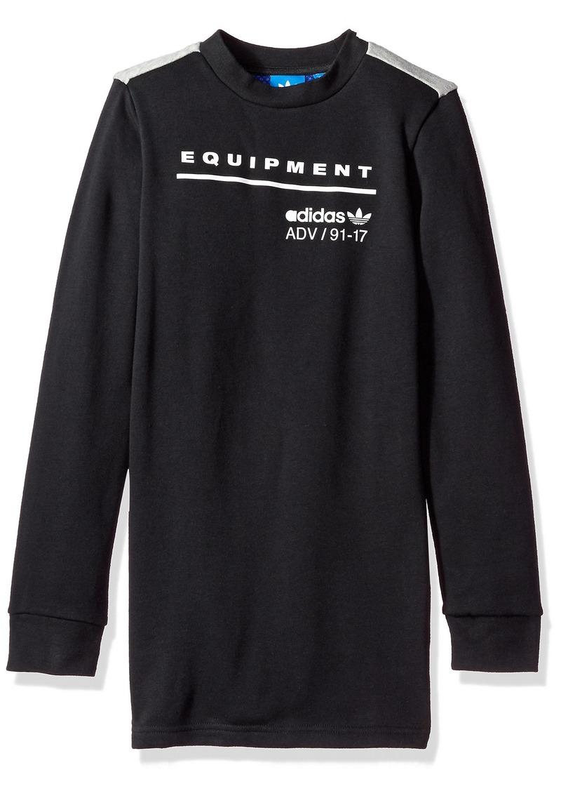 012578ee5 adidas Originals Tops Big Boys' Kids Eqt Long Sleeve Tee Black/ Grey Heather