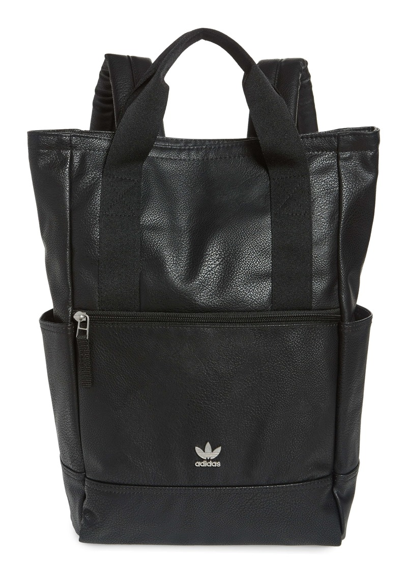 adidas Originals Tote Pack III Faux Leather Backpack