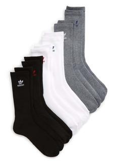 adidas Originals Trefoil Assorted 6-Pack Crew Socks