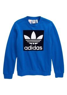 adidas Originals Trefoil Crewneck Sweatshirt (Big Boys)