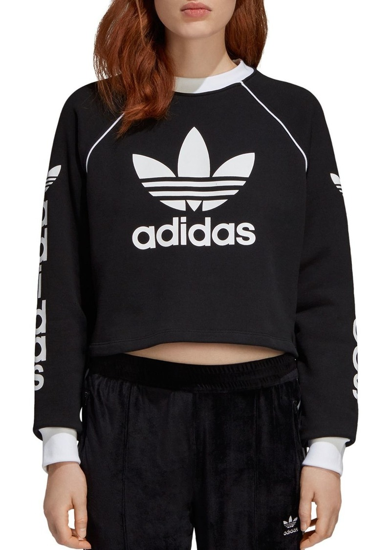 adidas Originals Trefoil Cropped Sweatshirt