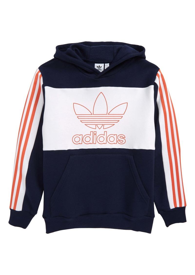 adidas Originals Trefoil Outline Hoodie (Big Boys)