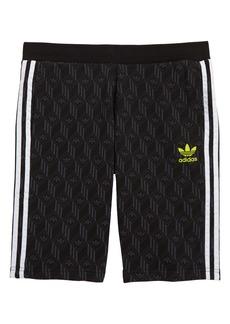 adidas Originals Trefoil Print French Terry Athletic Shorts (Big Boy)