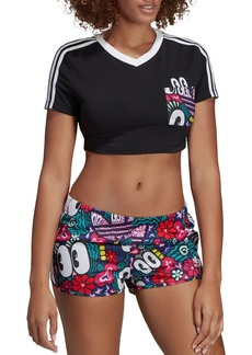 adidas Originals Triple Stripe Pocket Cropped Tee