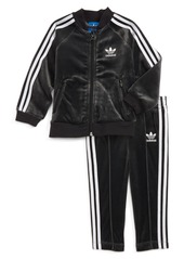 adidas Originals Velour Jacket & Sweatpants (Baby Girls)