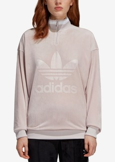 adidas Originals Velvet Half-Zip Sweatshirt