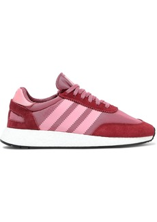 Adidas Originals Woman I-5923 Leather And Suede-trimmed Neoprene Sneakers Fuchsia