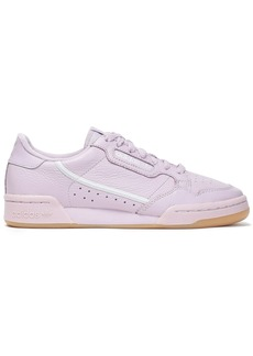 Adidas Originals Woman Continental 80 Perforated Textured-leather Sneakers Lilac