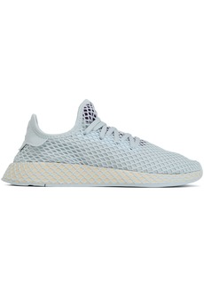 Adidas Originals Woman Deerupt Runner Mesh-appliquéd Stretch-knit Sneakers Sky Blue