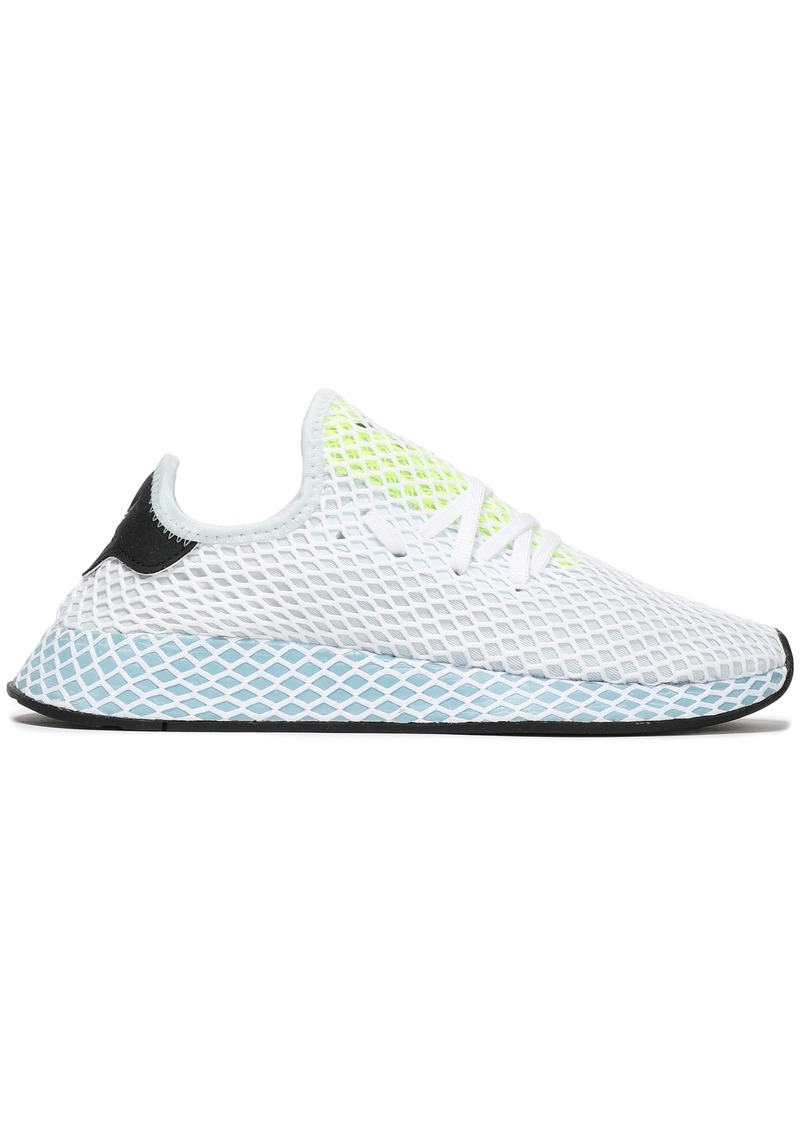 Adidas Originals Woman Deerupt Runner Mesh Sneakers Light Gray