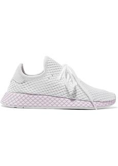 Adidas Originals Woman Deerupt Runner Two-tone Mesh Sneakers White