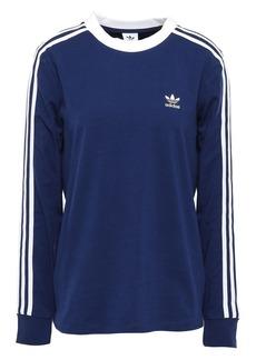 Adidas Originals Woman Striped Stretch-cotton Jersey Top Navy