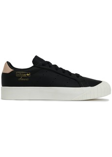 Adidas Originals Woman Everyn Suede-trimmed Leather Sneakers Black
